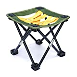 Mini Portable Camping, Gardening or Fishing Stool, Strap Webbing,10.5 inches tall, folding camp chair for backpacking - hiking - events - travel - boating - sporting - lightweight sturdy webbing seat