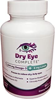 Dry Eye Complete, Formulated for Dry Eyes. Ultimate Vision Health Ingredients: Omega-3, Omega-7, Lutein, Vitamin D3 Save 1...