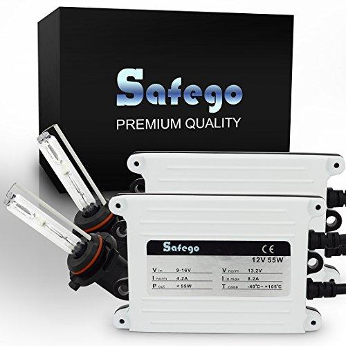Safego 55W HB4 AC Kit de Conversion Slim Xenon HID Set 9006 Lampe à Décharge Phare Ampoule de Rechange 6000K Blanc Pour Voiture CA 12V Xénon Ballasts et Accessoires Inclus