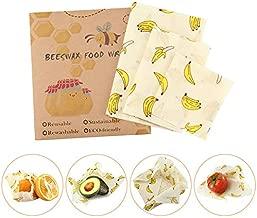 Navaris Set de envoltorios de Cera de Abeja Wrap Reutilizable para Almacenamiento de Alimentos Envoltorio ecol/ógico para Queso bocadillos Fruta
