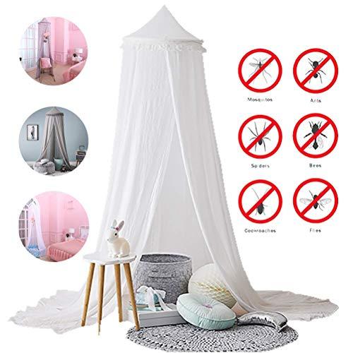 WLD Summer Muggennetten, muggennetten, muggennetten, binnentent voor kinderen in de zomer, gebruikt voor kamerdecoratie, anti-muggenbeten, grijs Kleur: wit