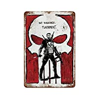 復讐の罰ではないパニッシャー さびた錫のサインヴィンテージアルミニウムプラークアートポスター装飾面白い鉄の絵の個性安全標識警告アニメゲームフィルムバースクールカフェ40cm*30