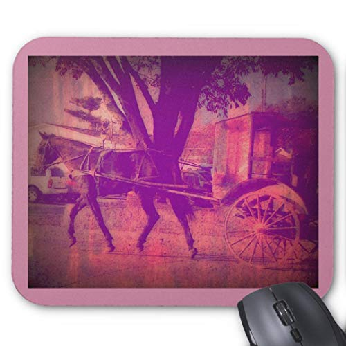 Mauspad mit seidenweicher Textiloberfl?che - Mouse Pad Paradise (antistatische Wirkung - perfekte Gleiteigenschaft PC / Computer Mousepad)-amish horse and buggy pink grunge look