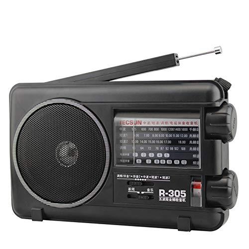 JSX La Radio Digital, FM MW SW Bandas de TV Receptor de Radio portátil con Receptor Incorporado Altavoz Digital