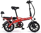 14 Pulgadas eléctrica plegable de la bicicleta, bicicleta eléctrica doble de litio puede decir con seguridad ajustado portátil montar en bicicleta, 48V 350W de alta potencia de la bicicleta eléctrica,