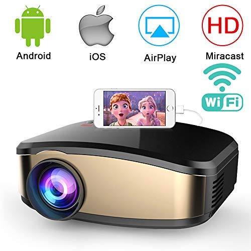Wireless WiFi Projector,Weton Portable Mini LED Video Projector Full HD 1080P Home Theater Movie Projector with HDMI USB VGA SD AV for Home Cinema Xbox ONE 150'' Max Display