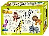 Hama 3510 Geschenkpackung Zootiere, Bügelperlen Midi, ca. 2000 Stück inklusive Stiftplatte und...