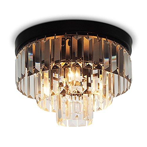 AMZH Redondo Cristal Luz De Techo Luz De Restaurante Luz Americana Dormitorio Luz Torta Creativo Cristal Luz De Techo Diámetro 30cm E14
