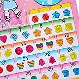 BLOUR 2018 Nuovo 1 Foglio = 60 Pezzi Adesivi Fai da Te Giocattoli Meravigliosi Adesivi per Bambini Orecchino Testa Ricompensa Fumetto Adesivi di Cristallo Giocattolo