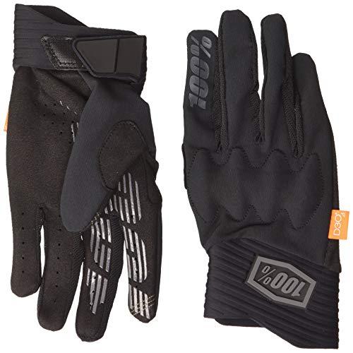 100 Percent Cognito 100% Glove Guanti per Occasioni Speciali, Black/Charcoal LG, M Uomo