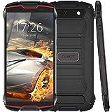 CUBOT Kingkong Mini 4G Rugged Smartphone Unlocked、4インチディスプレイ、3GB RAM + 32GB ROM、Android 9.0、Face ID、4G Dual-SIM、Compass + GPS、Waterproof Shockproof、Dustproof (赤)