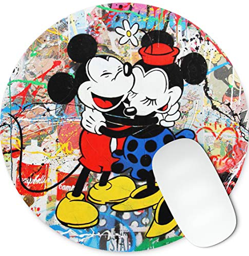 Mickey and Minnie Round mosue pad Gaming Mouse pad Non-Slip Mouse pad