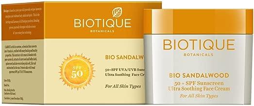 Biotique Sandalwood 50+ Spf Uva/Uvb Sunscreen Ultra Soothing Face Cream 50G/1.76 Fl.Oz.