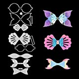 PARBEE Mermaid Seashell Bow Die Cuts Fish Scale Cutting Dies for Making Hair Bows Cardmaking Scrapbooking and DIY Crafts