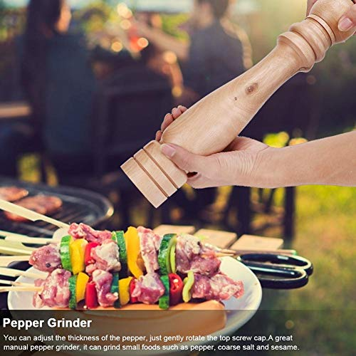 Hout Pepper Mill Set Zeezout Molen kruiden Verstelbare Soepele Refillable Handmatige Spice Shaker Gadget voor Home Kitchen