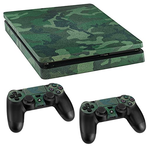 kazoj PS4Slim 1X 2X Controlador de Consola Pegatinas Ejército Army carmou Flage Aspecto