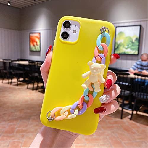 3D Rainbow BraceletMacaron Candy Bear Fundas para teléfono para iPhone 11 12 Pro XS MAX X XR 7 8 Plus SE2020 Cubierta Trasera Suave Coque Funda para iPhone 7 B
