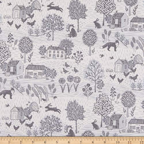 Andover/Makower UK Grove Scenic Grey Quilt Fabric By The Yard