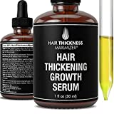 Hair Growth Serum - Hair Loss Prevention Treatment by Hair Thickness Maximizer. Best Natural Oils For Thinning Hair. Replenish Hair Follicles for Men, Women. Thickening Leave In Conditioner Serum 1oz