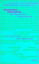 Imprégnation grammaticale, CP-CE de Bonnet