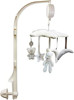 QD-BYM ベッドメリー オルゴール モビール 布製 多機能 寝かしつけ用品 電池いらず 放射線なし 出産祝い 新生児 0歳