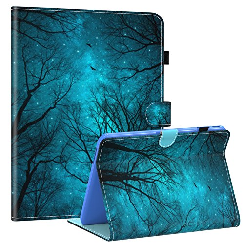 Galaxy Tab 4 10.1 Case,T530 Case,Dteck PU Leather Flip Stand Case with Auto Wake/Sleep Feature Folio Wallet Smart Shell Cover for Samsung Galaxy Tab 4 10.1 SM-T530NU T531 T535 Tablet,Mysterious Forest