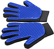 [Upgrade Version] Pet Grooming Glove - Gentle Deshedding Brush Glove - Efficient Pet Hair Remover Mitt - Enhanced Five...