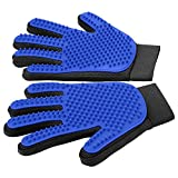 [Upgrade Version] Pet Grooming Glove - Gentle Deshedding Brush Glove - Efficient Pet Hair Remover Mitt -...