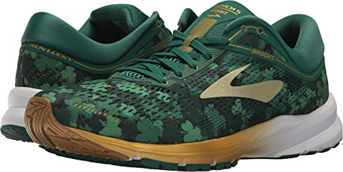 Brooks Men's St. Patty's Day Launch 5, Green/Gold, 12 D