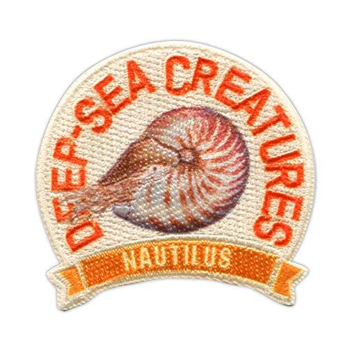 パイオニア 「学研の図鑑LIVE」深海生物 <オウムガイ> アイロン・シール両用接着ワッペン ZL650-ZL09