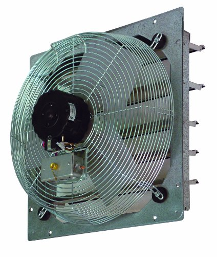 TPI Corporation CE14-DS Direct Drive Exhaust Fan, Shutter Mounted, Single Phase, 14' Diameter, 120 Volt
