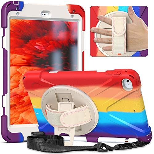 Tablet PC Bolsas Bandolera Cáscara resistente a la rotura de tres en uno de la serie para iPad mini4 / mini5, a prueba de gota, resistente al polvo, a prueba de golpes, soporte de agarre multifunción