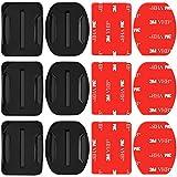 Neewer Paquete 3 Monturas Adhesivas con Almohadillas Adhesivas para Cámaras GoPro,Monturas Plano Curva Adhesivas para Gopro Hero 7 6 5 4 3+ 3 2 1 Hero Session 5 Black SJ4000 5000