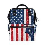 Large Capacity Baby Diaper Bag American Flag Lineman Durable Multi Function Travel Backpack