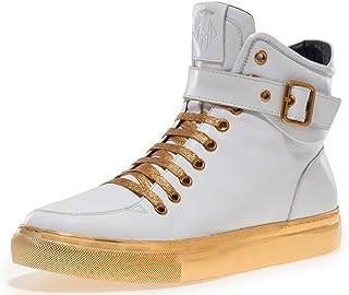 JUMP Men`s SULLIVAN24 Hi Top Sneaker with Ankle Strap, Inside Zip