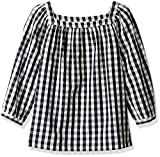 Amazon/ J. Crew Brand- LOOK by Crewcuts Girls' 3/4 Sleeve Square Neck Top, Gingham, X-Small (4/5)
