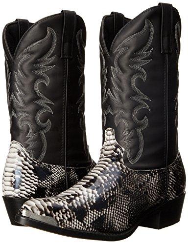 Laredo Men's 68067 Monty Western Boot,Black / White,7 D US