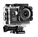 Support HDMI HD output function Support web camera function Detachable battery that is easy to replace Full HD 1080P Sports Action Camera:Featuring professional 1080P/30FPS, 720P/60FPS videos and 12MP photos, capture every fantasy moment in you daily...