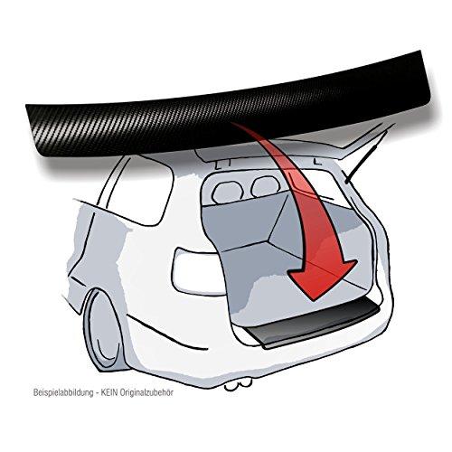 Lackschutzshop Ladekantenschutz passend für VW Caddy, VW Caddy Maxi, VW Caddy Life (4.Generation ab BJ 2015) - 3D Carbon schwarz