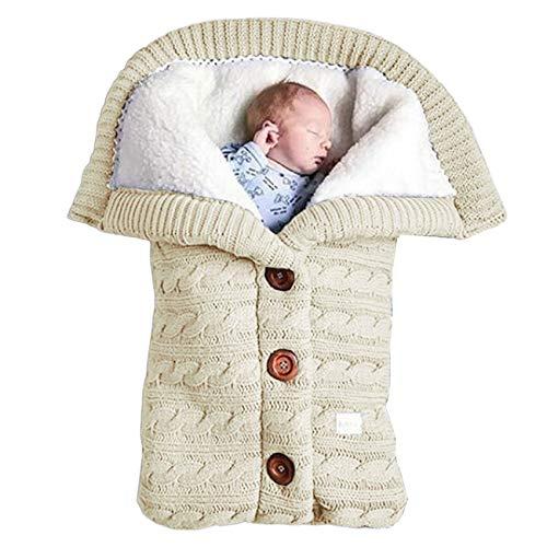 Ashley GAO Bebé Swaddle Wrap Cálido Lana Crochet Tejido Recién Nacido Saco de Dormir para bebés Manta Swaddling para bebés Sacos de Dormir para bebés