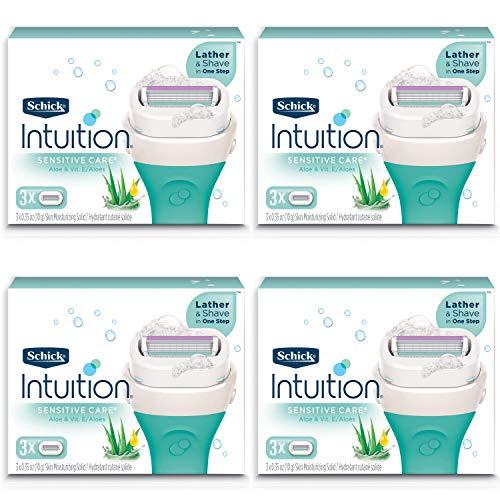 Schick Intuition Pure Nourishment Womens Razor Refills with Coconut Milk and Almond Oil