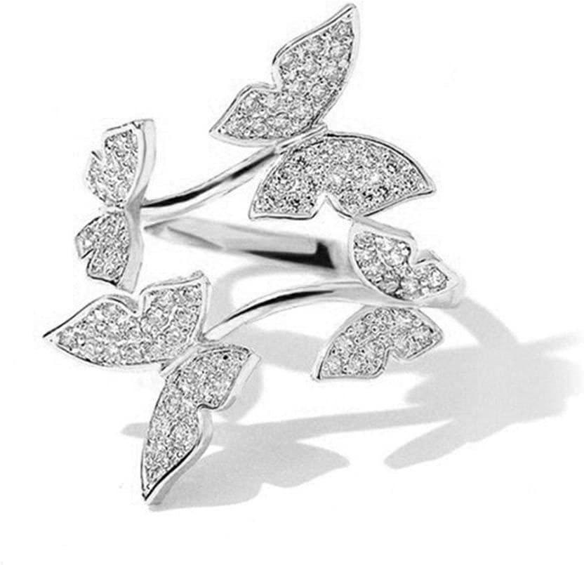 DMSUO Shine Diamond Clavicle low-pricing Chain Four Earrings Rin Butterflies service