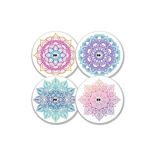MySweetStitch | Freestyle Libre Sensor Sticker Set di 4 Mandala | con foro per l'aerazione della pelle…