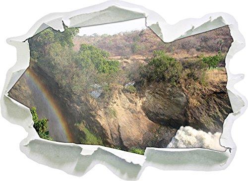 Rainbow Over Wasselfall, Taille d'autocollant de Mur 3D de Papier: 92x67 cm décoration Murale 3D Stickers muraux Stickers