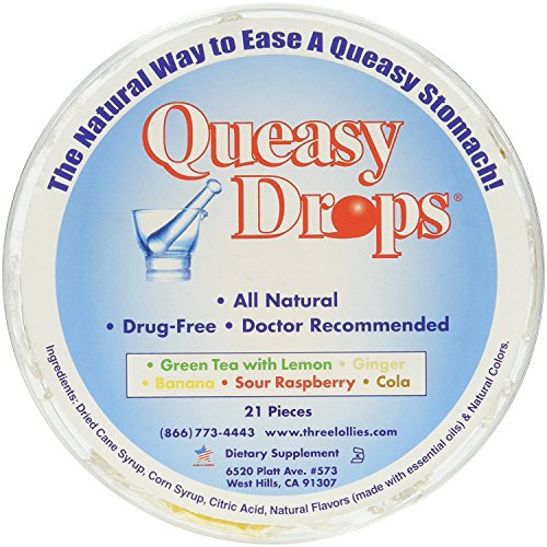 Three Lollies Queasy Drops Assorted Flavors 21 count