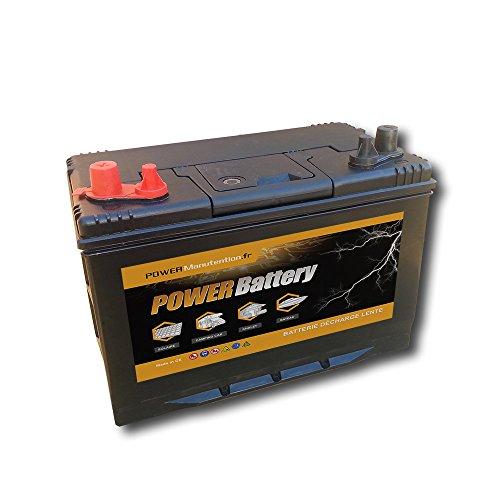 Batterie décharge lente camping car bateau 12v 100ah 303x172x220mm