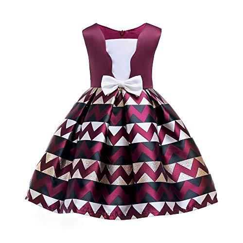 Yijiahui jurk, mouwloos, 2-9 jaar, zomerjurk, voor meisjes, mooie boog, zonder mouwen, ademend en comfortabel