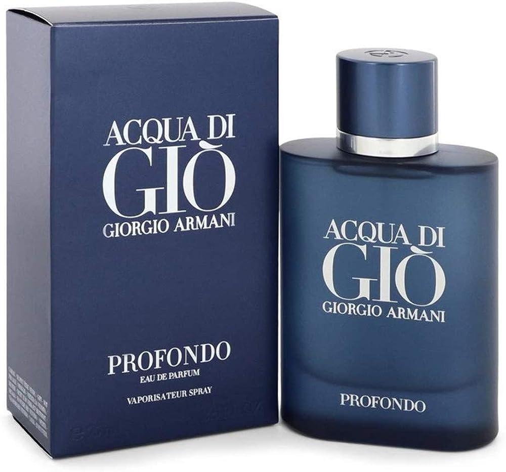Armani acqua di gio` profondo,eau de parfum da uomo,125 ml,spray 3614272865235