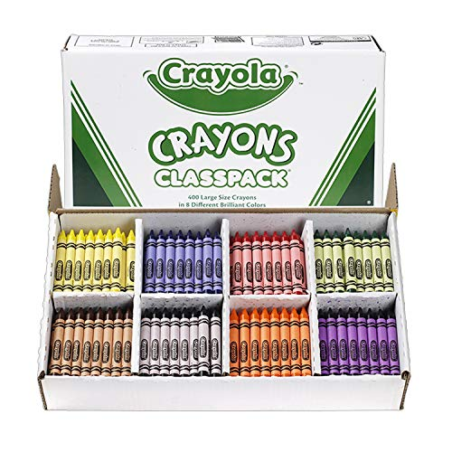 Crayola Crayon Classpack, 8 Classic Colors, 400 Count