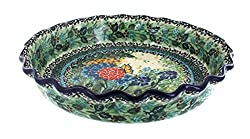 "Blue Rose Polish Pottery Teresa Pie Plate. <a href=""https://www.amazon.com/gp/product/B00NQD8QAO/ref=as_li_qf_asin_il_tl?ie=UTF8&amp;tag=ris15-20&amp;creative=9325&amp;linkCode=as2&amp;creativeASIN=B00NQD8QAO&amp;linkId=1bc6466e9340a05e389fcd4772ec2f51"" target=""_blank"" rel=""nofollow noopener""><span style=""text-decoration: underline; color: #0000ff;""><strong>Buy it on Amazon today.</strong></span></a>"
